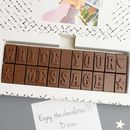 Personalised Chocolate 22 Letters