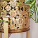Fretwork Planter On Stand
