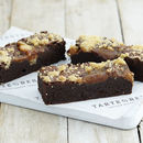 Personalised Cookie Dough Caramel Brownie Box