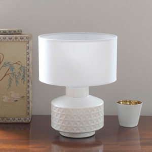 White Geometric Lamp - bedside lamps