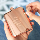 Personalised Rose Gold Rectangular Hip Flask