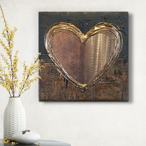 Copper Love Heart - modern & abstract