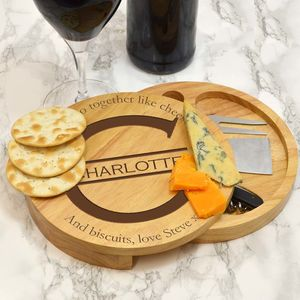 Personalised Cheese Board With Monogram