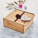 Personalised Map Heart Treasured Location Keepsake Box