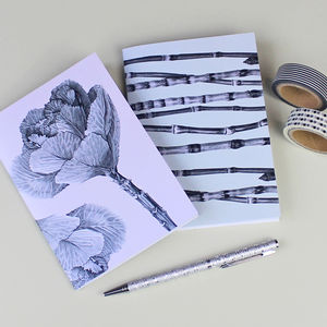 Ornamental Plants Botanical Notebooks Gift Set