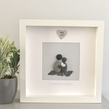 Personalised Anniversary Pebble People Picture Artwork
