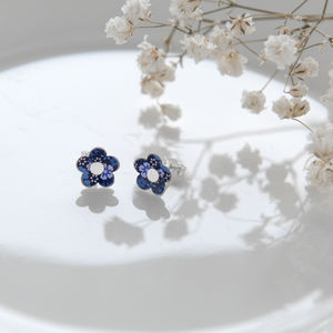 Forget Me Not Flower Blue Earring Studs
