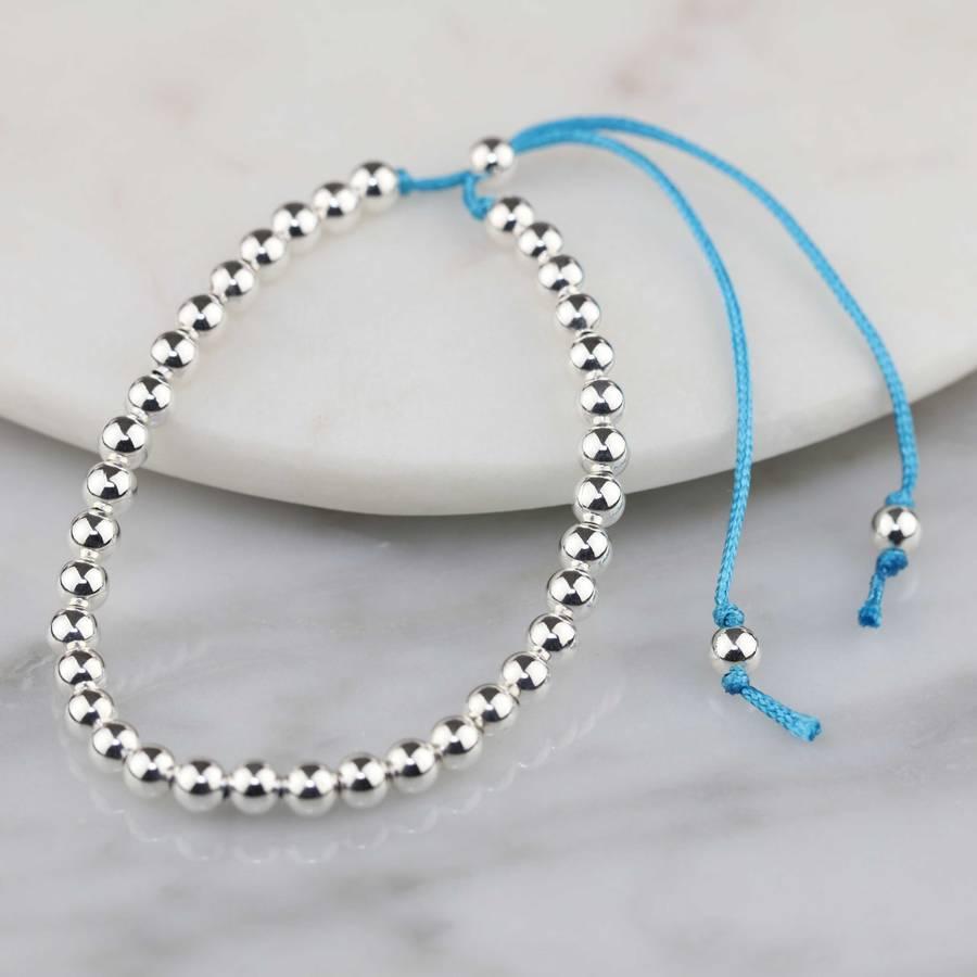 silver friendship bracelets by nest