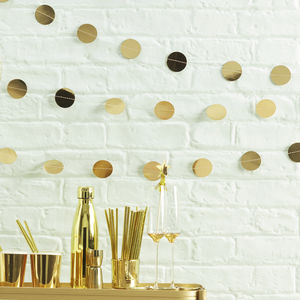 Gold Foiled Circle Garland Bunting - children's room