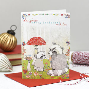 'Daughter, With Love' Christmas Card - cards