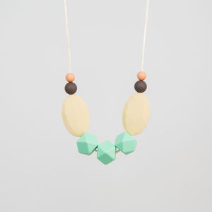 Mint Teething Necklace - more
