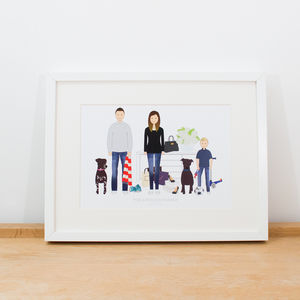 Bespoke Personalised Family Portrait - personalised gifts for families
