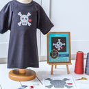 Glow In The Dark Skull Cross Stitch Kit For Clothing