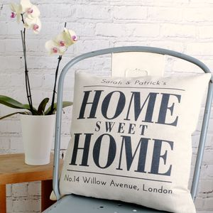 Personalised 'Home Sweet Home' Cushion Cover - cushions