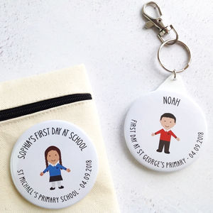 First Day At School Bag Tag Or Badge