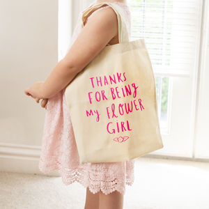 Thank You For Being My Flower Girl Mini Tote Bag - for children
