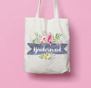 Bridesmaid And Maid Of Honour Tote Bag - wedding favours