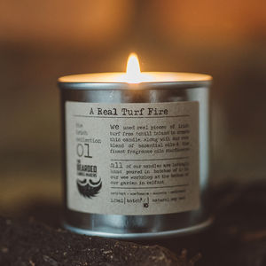 A Real Turf Fire Candle - candles & home fragrance