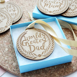 Personalised Wooden Medal Keepsake - wrapping
