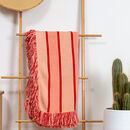 Luxury Red Reef Throw