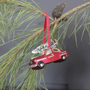 'Christmas At Our House' Tree Decoration - tree decorations