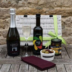 Prosecco, Olives And Oil Gift Set - champagne & prosecco