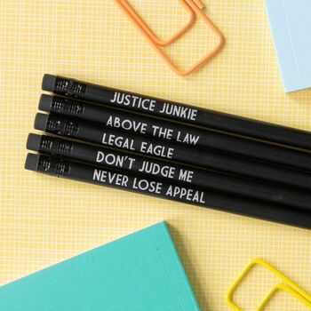 Funny Lawyer Pencil Set: Legal Eagle