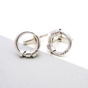 Personalised Secret Message Cuff Links - men's accessories