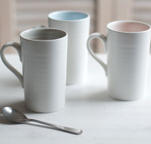 Tactile Porcelain Mug - dining room