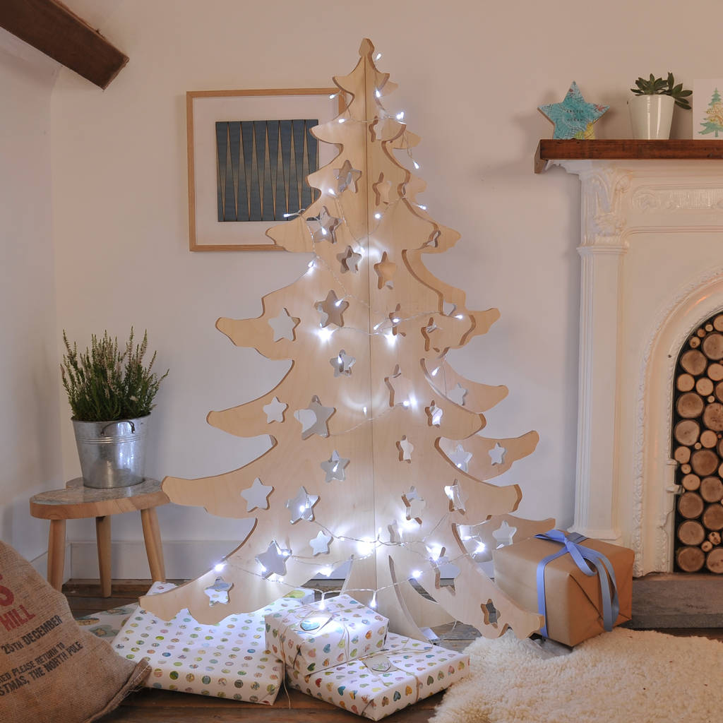 Alternative Wooden 4ft Christmas Tree