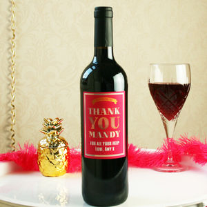 Personalised 'Thank You' Wine Gift