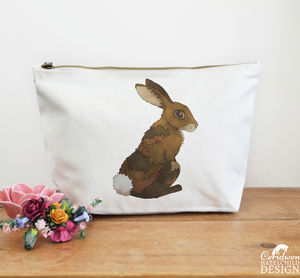 Bunny Rabbit Canvas Wash Bag - make-up & wash bags