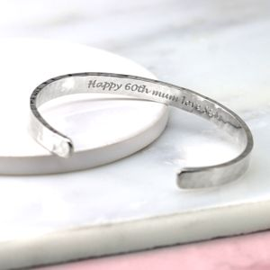 Hammered Silver Bracelet - jewellery sale