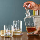 Personalised Woodland Stag Decanter And Tumblers