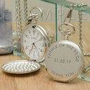 Personalised Polished Silver Pocket Watch