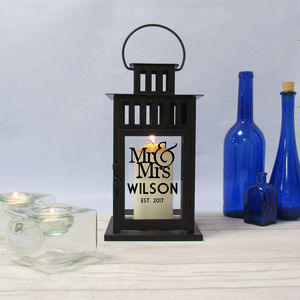 Lantern Personalised Mr And Mrs - home accessories