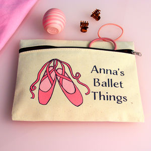 Personalised Ballet Dancing Zipped Pouch - children's accessories