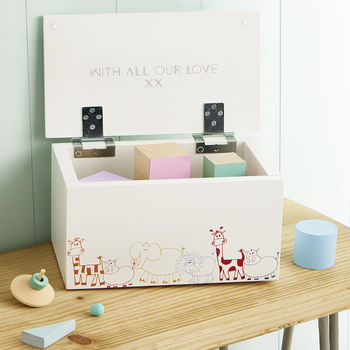 Personalised Keepsake And Memory Box Animal Design