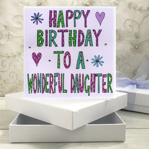 Personalised Daughter Birthday Book Card - birthday cards
