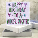 Personalised Daughter Birthday Book Card