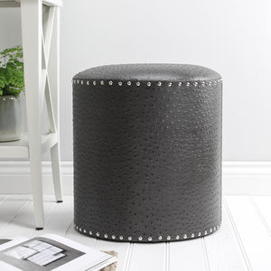 Charcoal Studded Stool - new in home