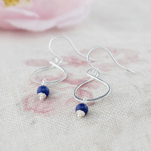 Aida Sterling Silver Earrings Available In Four Colours - wedding jewellery