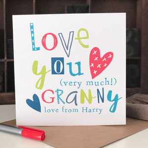 Personalised Card For Granny - shop by category