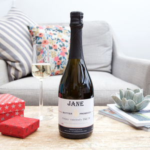 Personalised Valentine's Day Prosecco