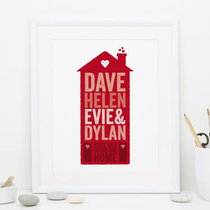 Personalised Family Home Print - posters & prints