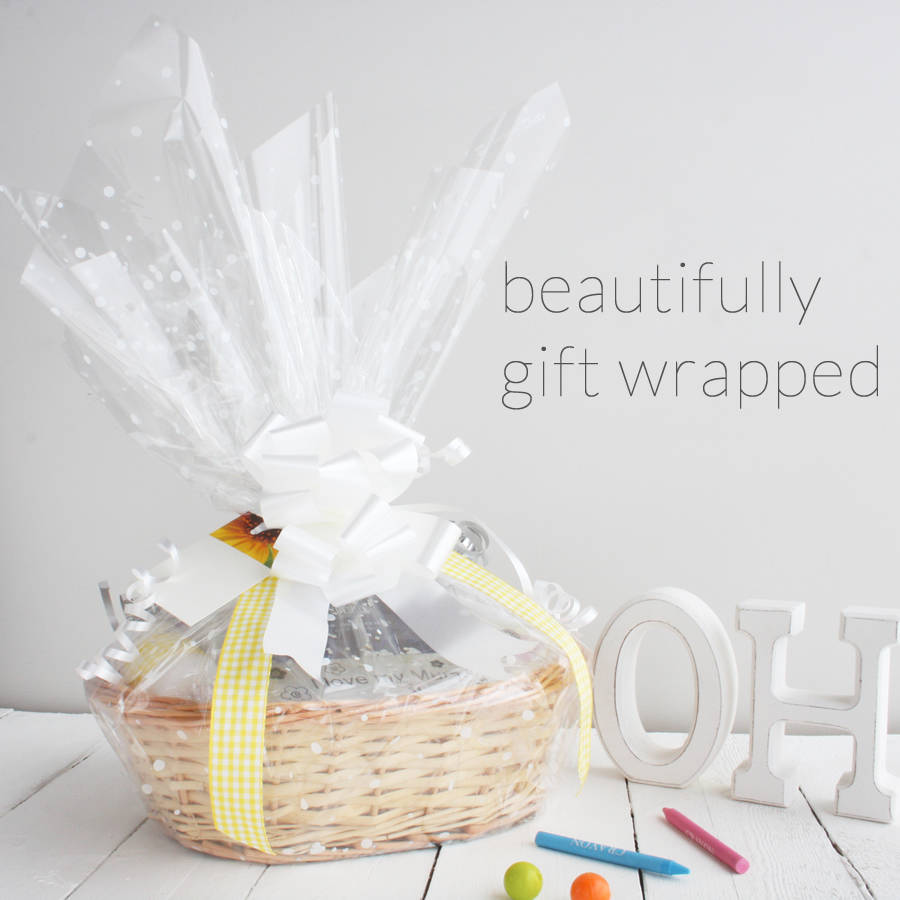 Deluxe Boy New Baby Gift Basket By Snuggle Feet