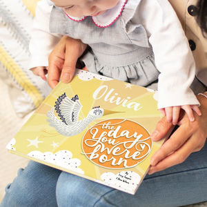 'The Day You Were Born' Personalised New Baby Book - personalised