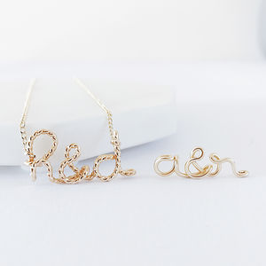 'You And Me' Initials 14k Gold Filled Necklace