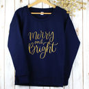 Ladies Christmas Jumper Merry And Bright