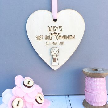 Personalised First Holy Communion Heart